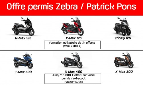 Offre permis maxi-scoot + formation 125