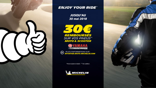 Opé Michelin Enjoy Your Ride - Actualité de PATRICK PONS GRANDE ARMEE